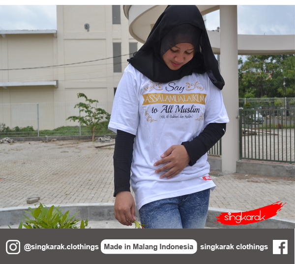Assalamualaikum Moslem T shirt in White